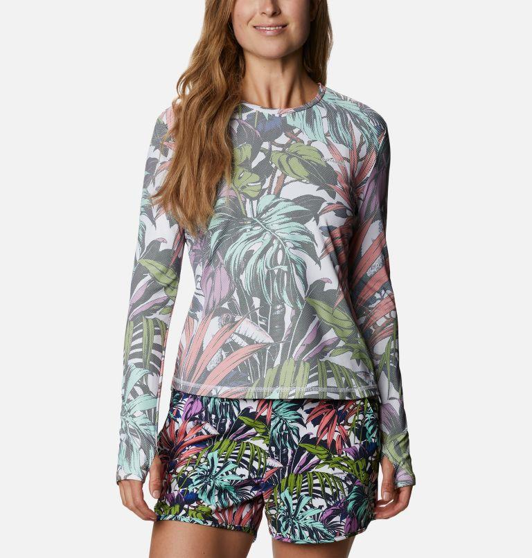 W Sun Deflector Summerdry™ LS Shirt   101   S Women's Sun Deflector Summerdry™ Long Sleeve Shirt, White Toucanical Multi Print, front