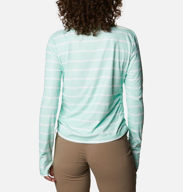 W Sun Deflector Summerdry™ LS Shirt | 368 | M Women's Sun Deflector Summerdry™ Long Sleeve Shirt, Mint Cay Tie Dye Stripe, back