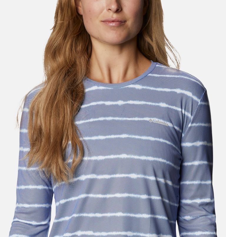 W Sun Deflector Summerdry™ LS Shirt   410   XXL Women's Sun Deflector Summerdry™ Long Sleeve Shirt, Lapis Blue Tie Dye Stripe, a2