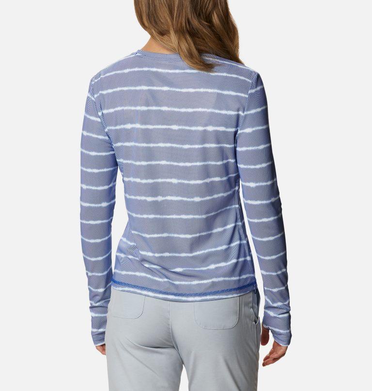 W Sun Deflector Summerdry™ LS Shirt   410   XS Women's Sun Deflector Summerdry™ Long Sleeve Shirt, Lapis Blue Tie Dye Stripe, back