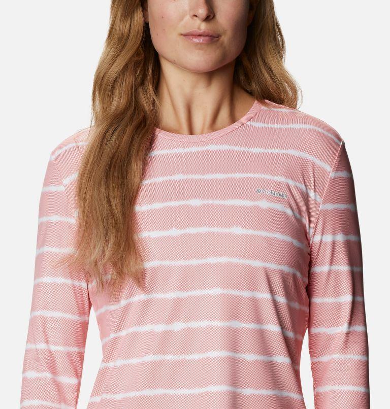 W Sun Deflector Summerdry™ LS Shirt | 699 | M Women's Sun Deflector Summerdry™ Long Sleeve Shirt, Salmon Tie Dye Stripe, a2
