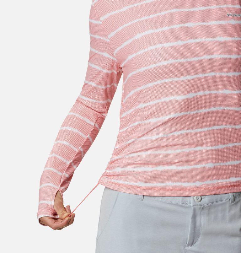 W Sun Deflector Summerdry™ LS Shirt | 699 | M Women's Sun Deflector Summerdry™ Long Sleeve Shirt, Salmon Tie Dye Stripe, a4