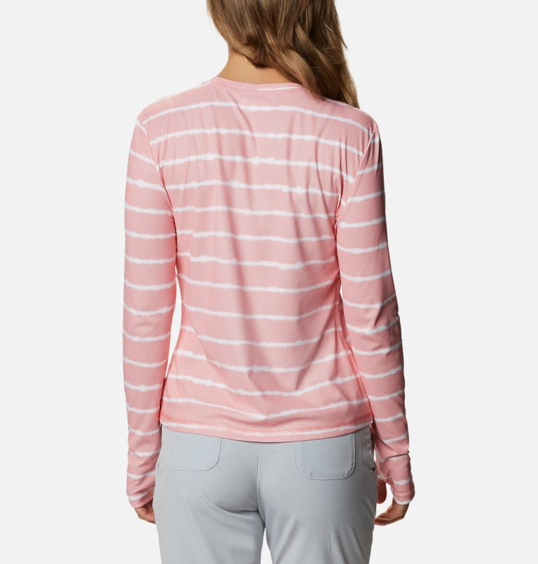 W Sun Deflector Summerdry™ LS Shirt   699   S Women's Sun Deflector Summerdry™ Long Sleeve Shirt, Salmon Tie Dye Stripe, back