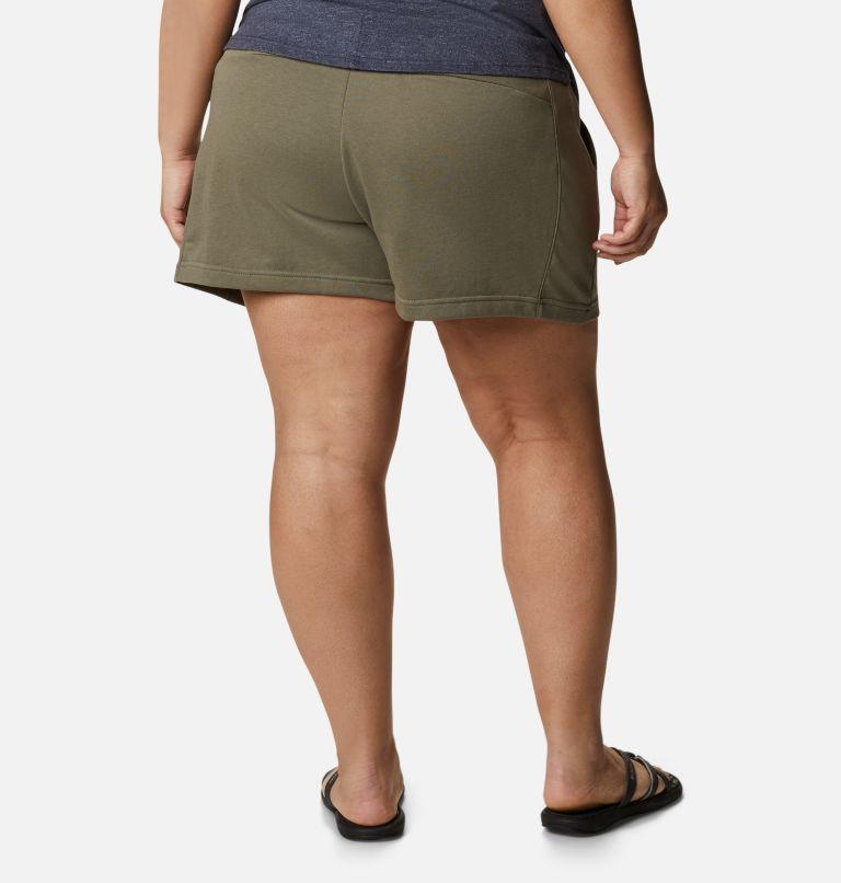Columbia Logo™ II French Terry Short | 397 | 1X Women's Columbia Logo™ II French Terry Shorts - Plus Size, Stone Green, back