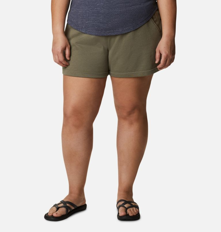 Women's Columbia Logo™ II French Terry Shorts - Plus Size Women's Columbia Logo™ II French Terry Shorts - Plus Size, front