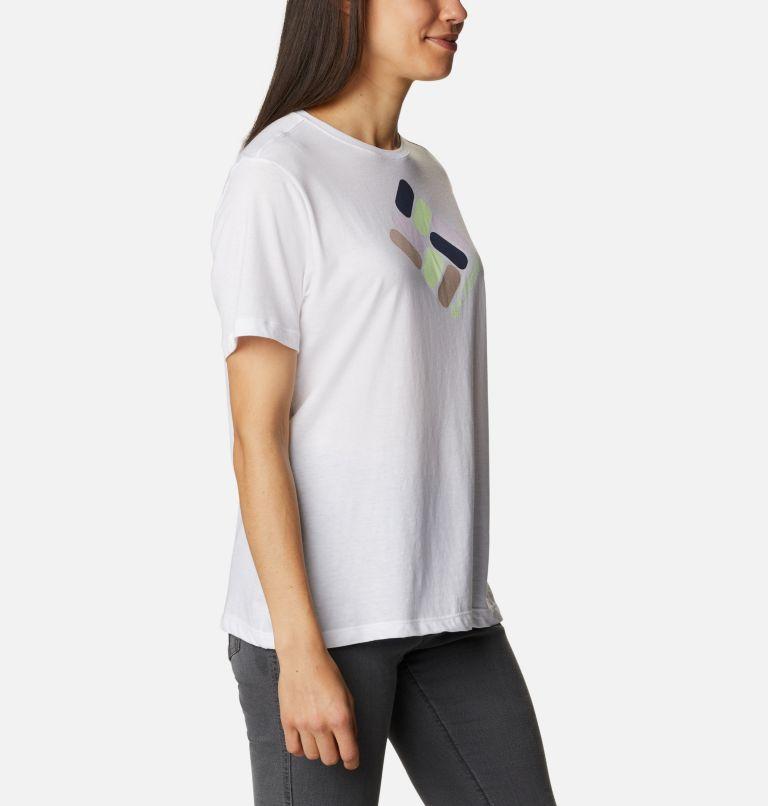 Bluebird Day™ Relaxed Crew Neck | 101 | XS Women's Bluebird Day™ Relaxed Crew Neck Shirt, White, Multi Gem Graphic, a3