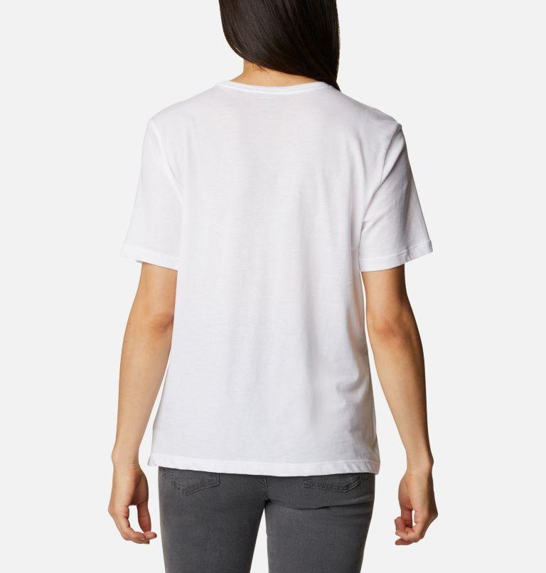 Bluebird Day™ Relaxed Crew Neck | 101 | XS Women's Bluebird Day™ Relaxed Crew Neck Shirt, White, Multi Gem Graphic, back
