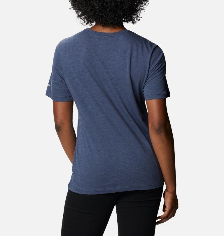 Bluebird Day™ Relaxed Crew Neck | 467 | M Women's Bluebird Day™ Relaxed Crew Neck Shirt, Nocturnal Heather, Multi Gem Print, back