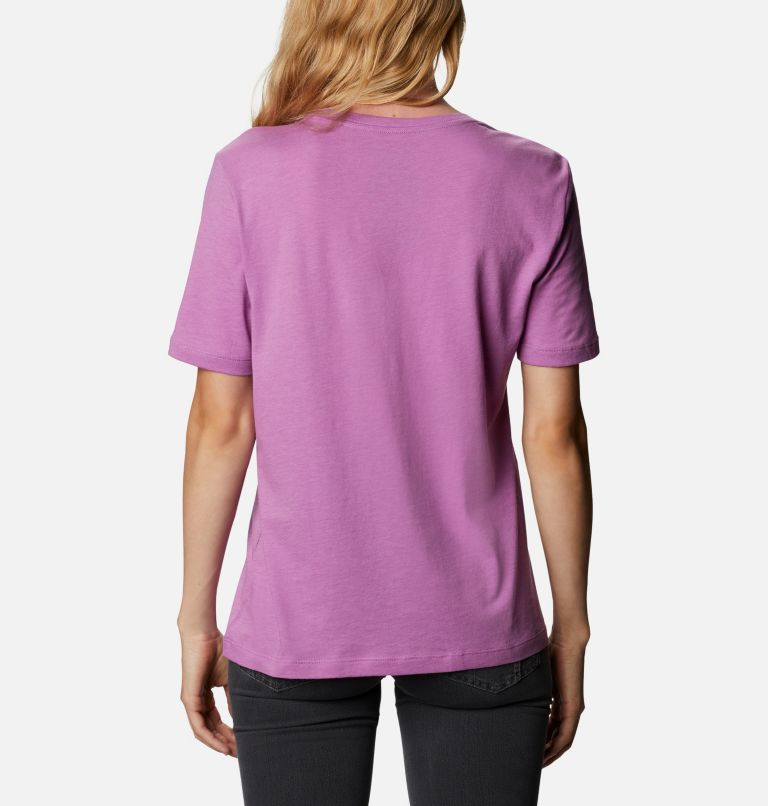 Bluebird Day™ Relaxed Crew Neck   605   XS Women's Bluebird Day™ Relaxed Crew Neck Shirt, Blossom Pink Heather, Outlined Brand, back