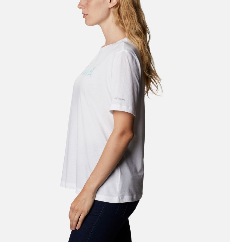 Bluebird Day™ Relaxed Crew Neck | 105 | L Women's Bluebird Day™ Relaxed T-Shirt, White, Wind Floral Brand, a1