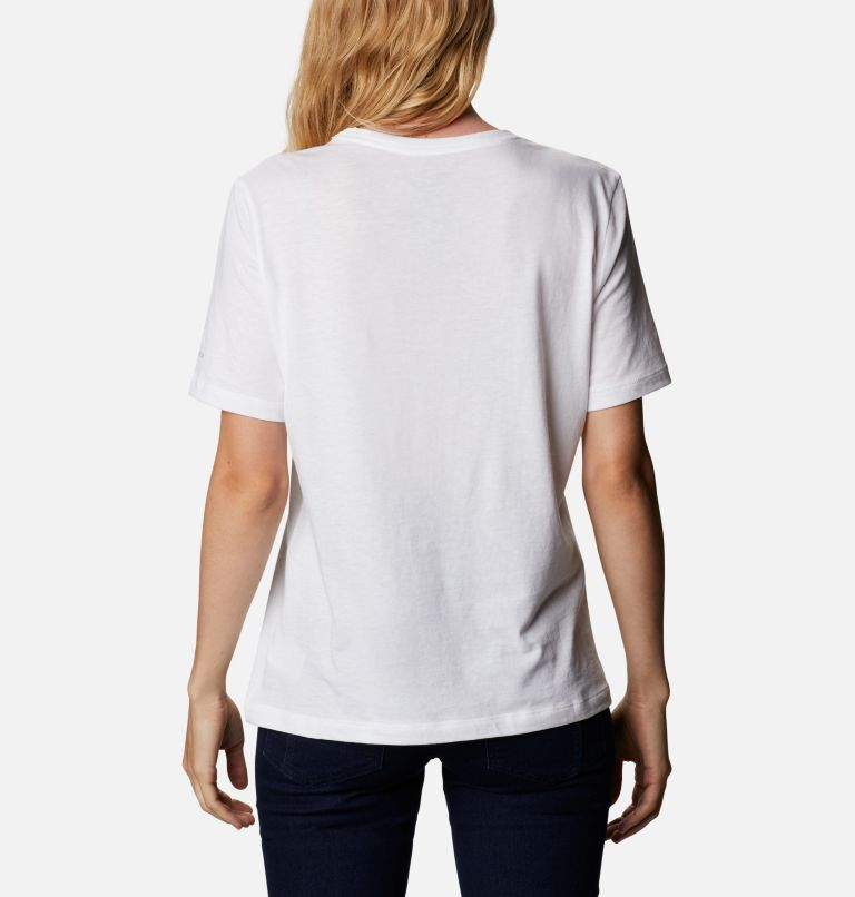 Bluebird Day™ Relaxed Crew Neck | 105 | L Women's Bluebird Day™ Relaxed T-Shirt, White, Wind Floral Brand, back