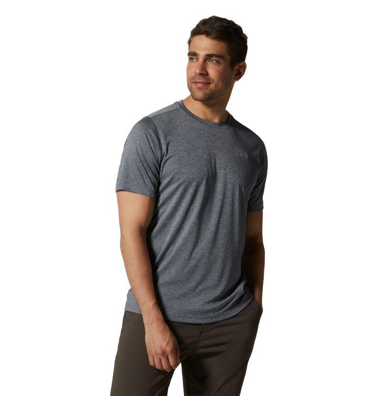 Wicked Tech™ Short Sleeve T | 054 | XL Men's Wicked Tech™ Recycled Short Sleeve T-Shirt, Heather Graphite, a3