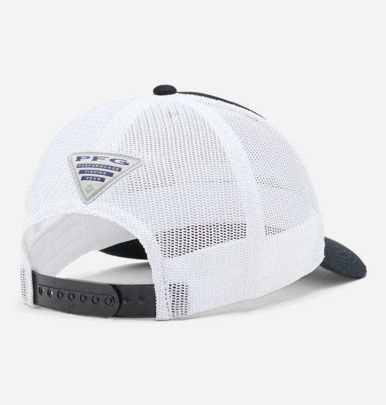 PFG Trucker™ Snap Back | 010 | O/S PFG Trucker™ Snap Back Cap, Black, White, Stacked Logo, back