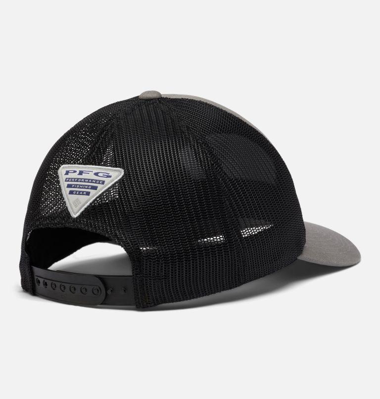 PFG Trucker™ Snap Back | 029 | O/S PFG Trucker™ Snap Back Cap, Titanium, Black, First Water Patch, back