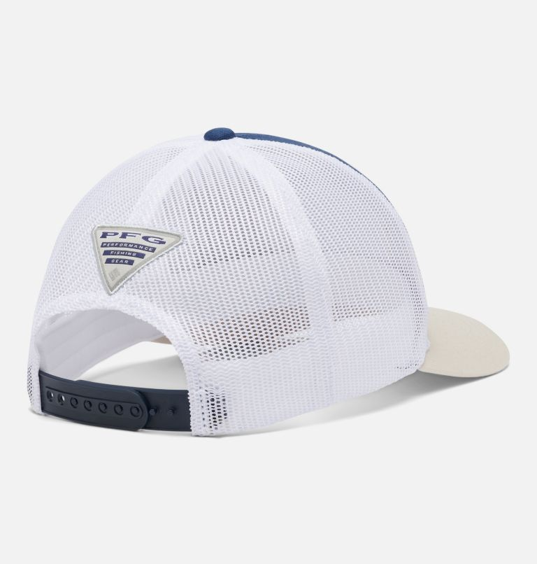 PFG Trucker™ Snap Back   469   O/S PFG Trucker™ Snap Back Cap, Carbon, Stone, First Water Patch, back