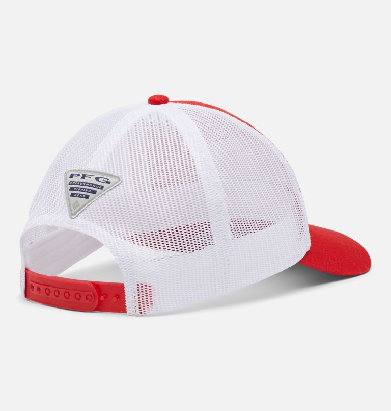 PFG Trucker™ Snap Back   696   O/S PFG Trucker™ Snap Back Cap, Red Spark, White, First Water Patch, back