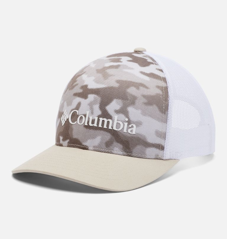 Punchbowl™ Trucker | 271 | O/S Unisex Punchbowl™ Trucker Cap, Ancient Fossil, Spotted Camo Print, front