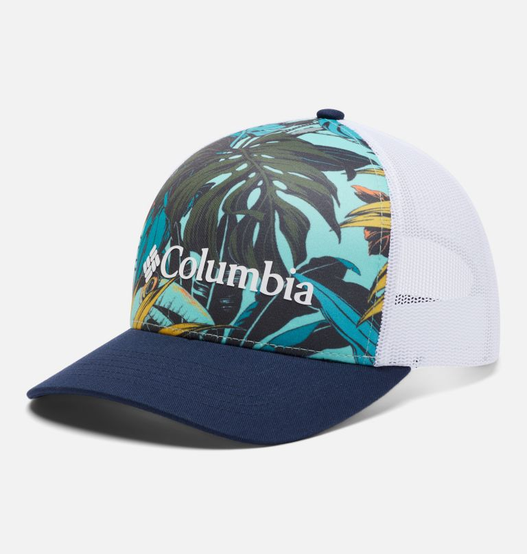 Punchbowl™ Trucker   360   O/S Punchbowl™ Trucker Hat, Tropic Water, Toucanical Print, front