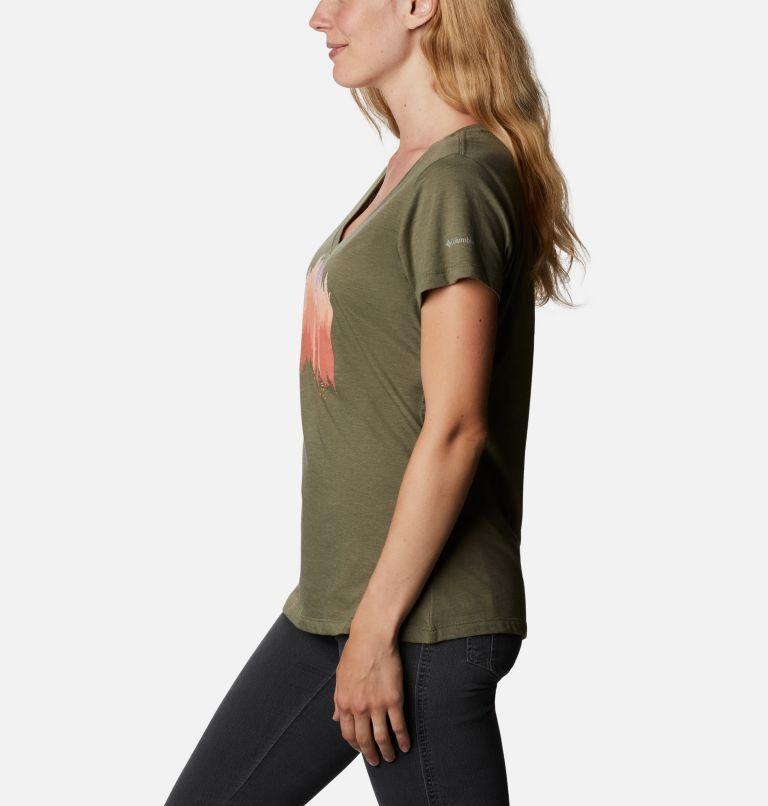 Daisy Days™ V Neck Graphic Tee | 397 | M Women's Daisy Days™ V-Neck Graphic T-Shirt, Stone Green Heather, Shifting Shadows, a1