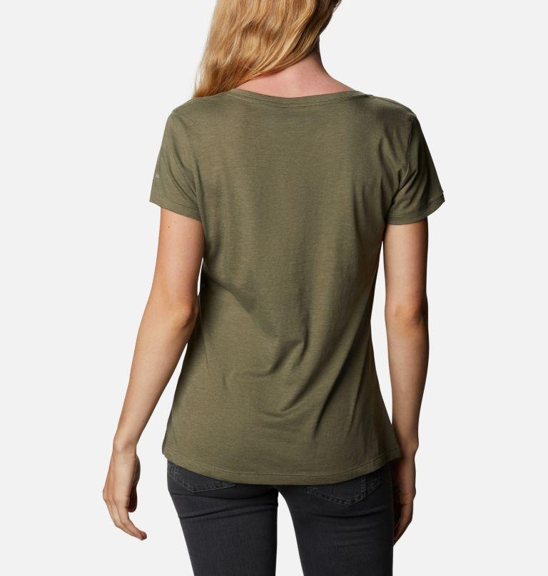 Daisy Days™ V Neck Graphic Tee | 397 | M Women's Daisy Days™ V-Neck Graphic T-Shirt, Stone Green Heather, Shifting Shadows, back
