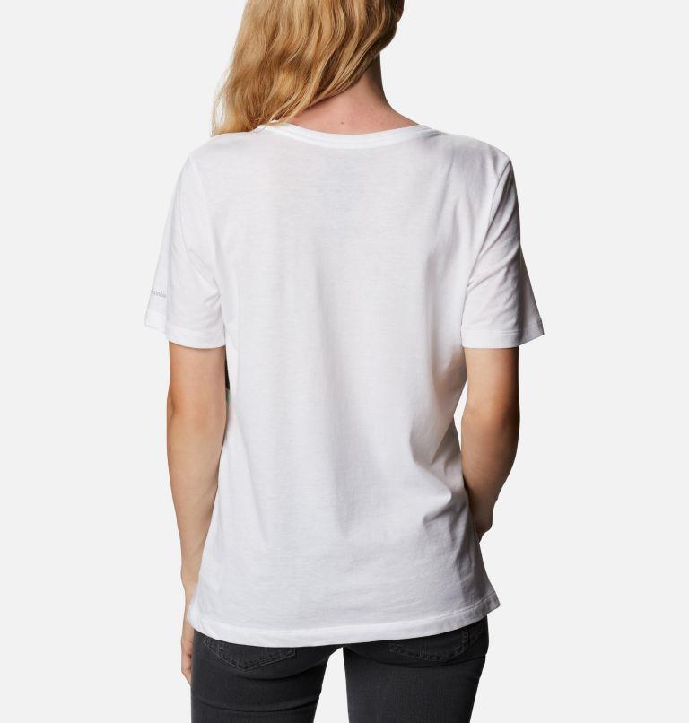 Bluebird Day™ Relaxed V Neck | 100 | XXL Women's Bluebird Day™ Relaxed V-Neck Shirt, White, Striped Hills, back