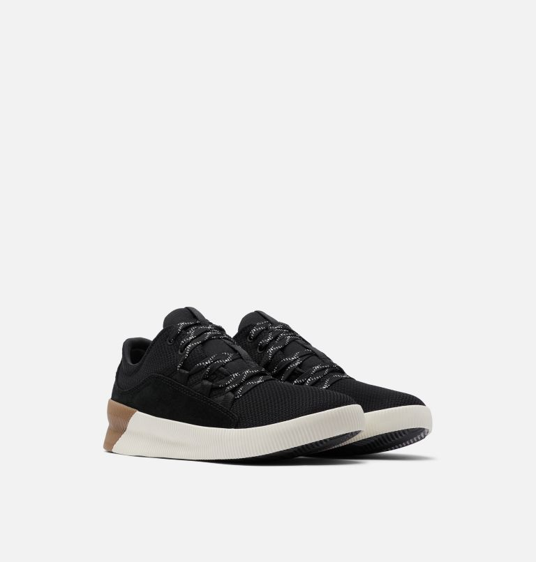 OUT N ABOUT™ PLUS LACE | 010 | 12 Womens Out N About™ Plus Lace Sneaker, Black, 3/4 front