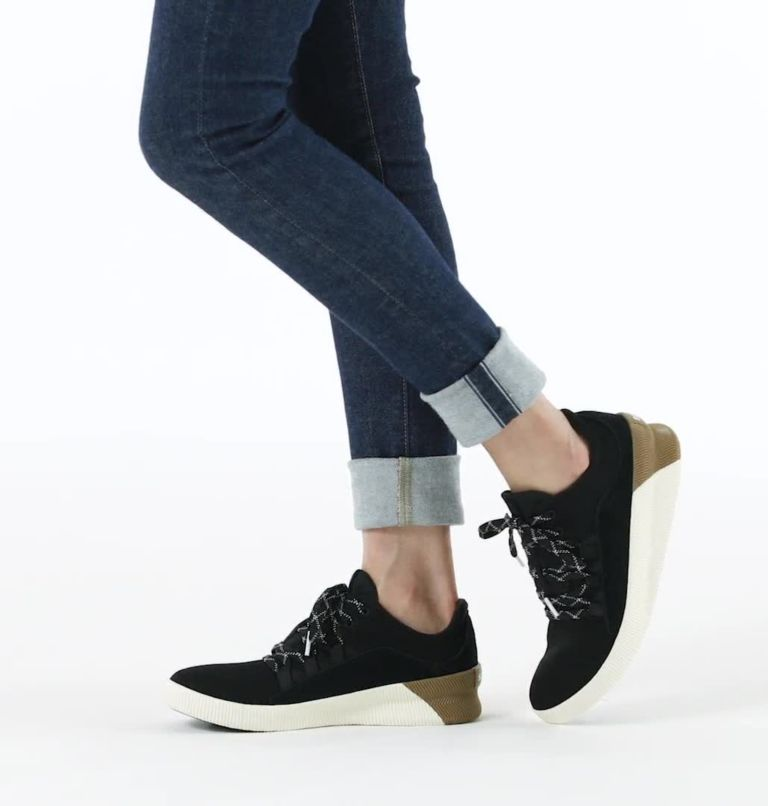 OUT N ABOUT™ PLUS LACE | 010 | 12 Womens Out N About™ Plus Lace Sneaker, Black, video