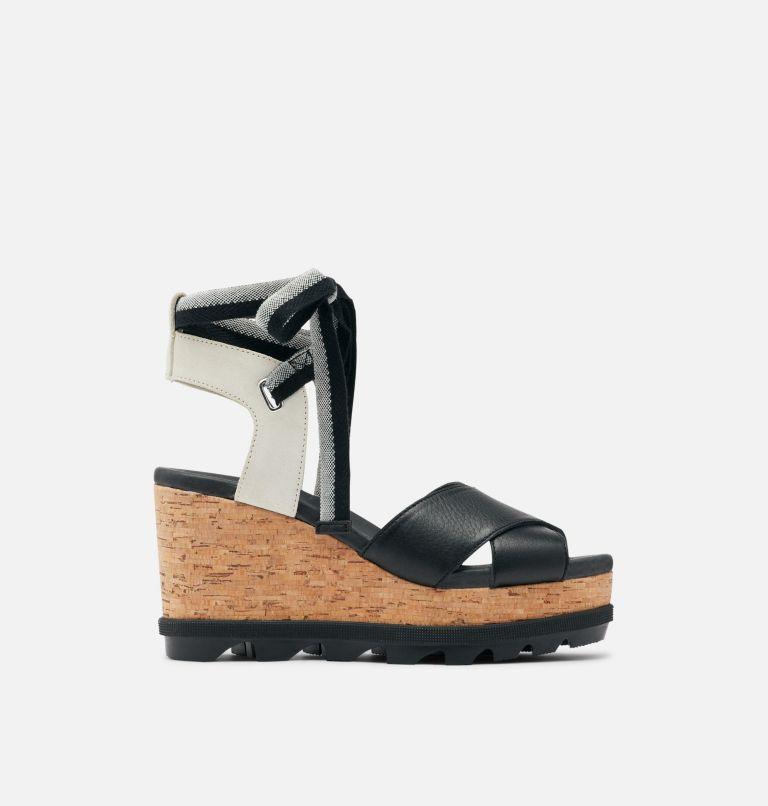 JOANIE™ II HI ANKLE LACE | 010 | 9 Womens Joanie™ II Hi Ankle Lace Wedge Sandal, Black, front