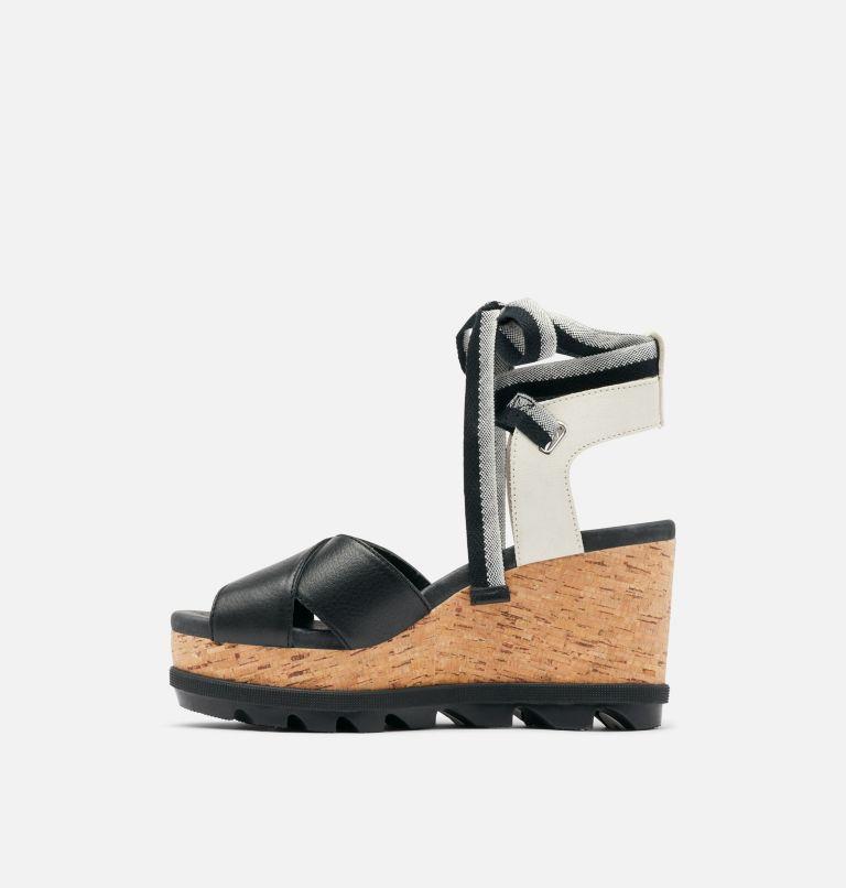 JOANIE™ II HI ANKLE LACE | 010 | 9 Womens Joanie™ II Hi Ankle Lace Wedge Sandal, Black, medial