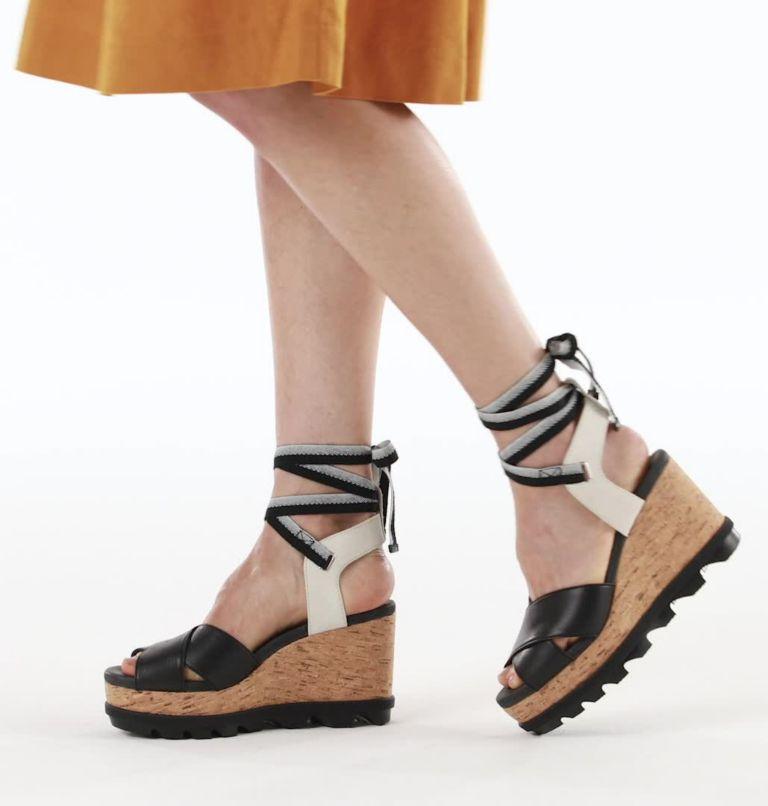JOANIE™ II HI ANKLE LACE | 010 | 9 Womens Joanie™ II Hi Ankle Lace Wedge Sandal, Black, video