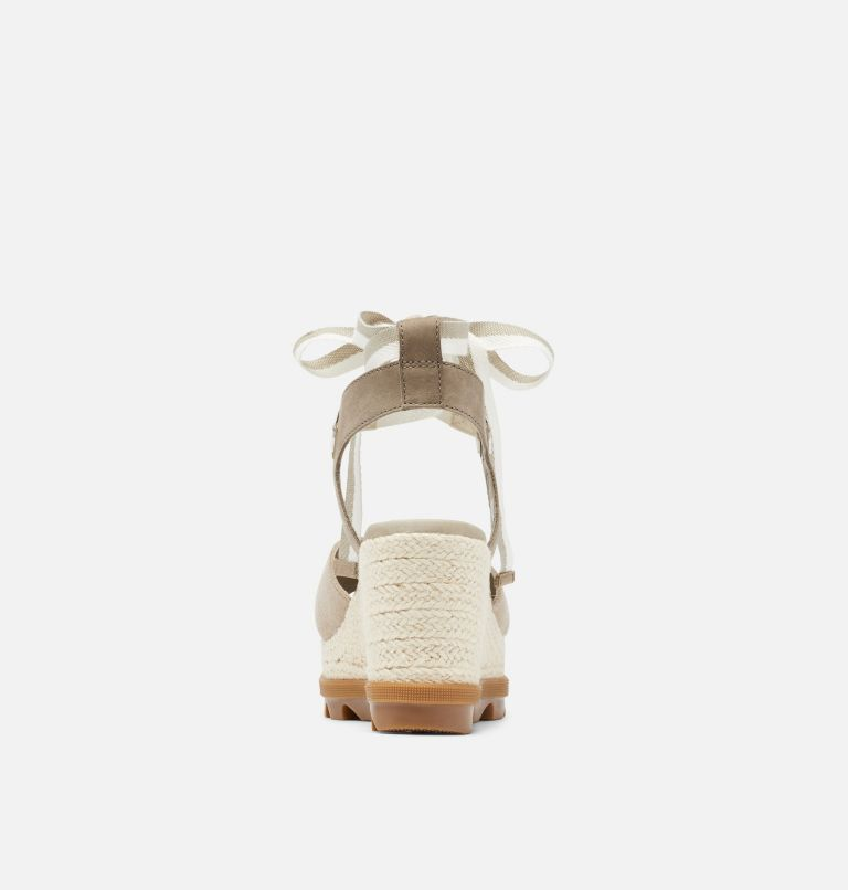 JOANIE™ II HI ANKLE LACE | 251 | 10.5 Womens Joanie™ II Hi Ankle Lace Wedge Sandal, Sandy Tan, back