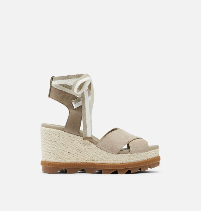 JOANIE™ II HI ANKLE LACE | 251 | 10.5 Womens Joanie™ II Hi Ankle Lace Wedge Sandal, Sandy Tan, front