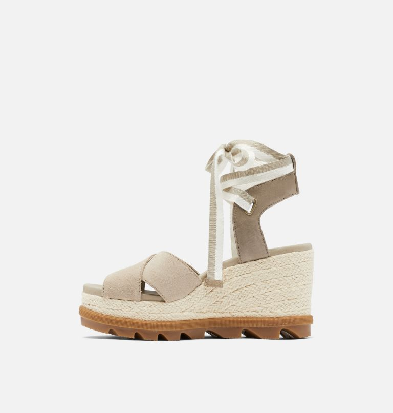 JOANIE™ II HI ANKLE LACE | 251 | 10.5 Womens Joanie™ II Hi Ankle Lace Wedge Sandal, Sandy Tan, medial