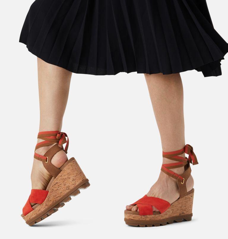 JOANIE™ II HI ANKLE LACE | 854 | 9.5 Womens Joanie™ II Hi Ankle Lace Wedge Sandal, Signal Red, a9