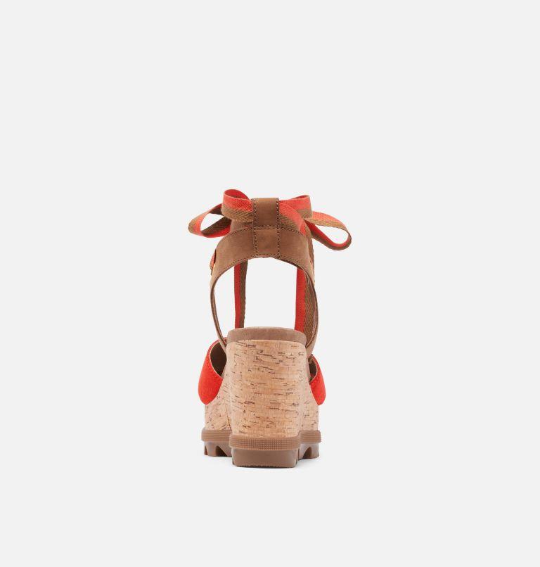 JOANIE™ II HI ANKLE LACE | 854 | 9.5 Womens Joanie™ II Hi Ankle Lace Wedge Sandal, Signal Red, back