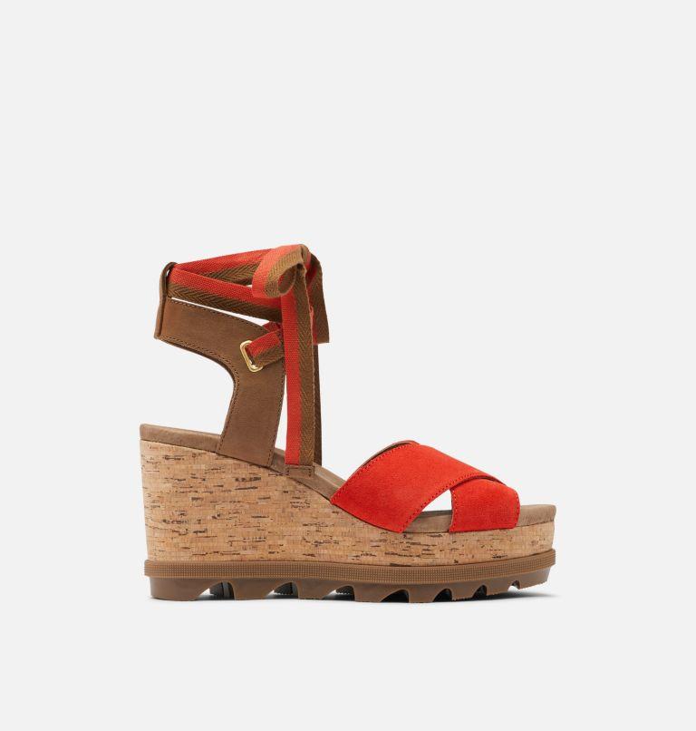 JOANIE™ II HI ANKLE LACE | 854 | 9.5 Womens Joanie™ II Hi Ankle Lace Wedge Sandal, Signal Red, front