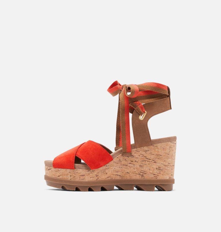 JOANIE™ II HI ANKLE LACE | 854 | 9.5 Womens Joanie™ II Hi Ankle Lace Wedge Sandal, Signal Red, medial
