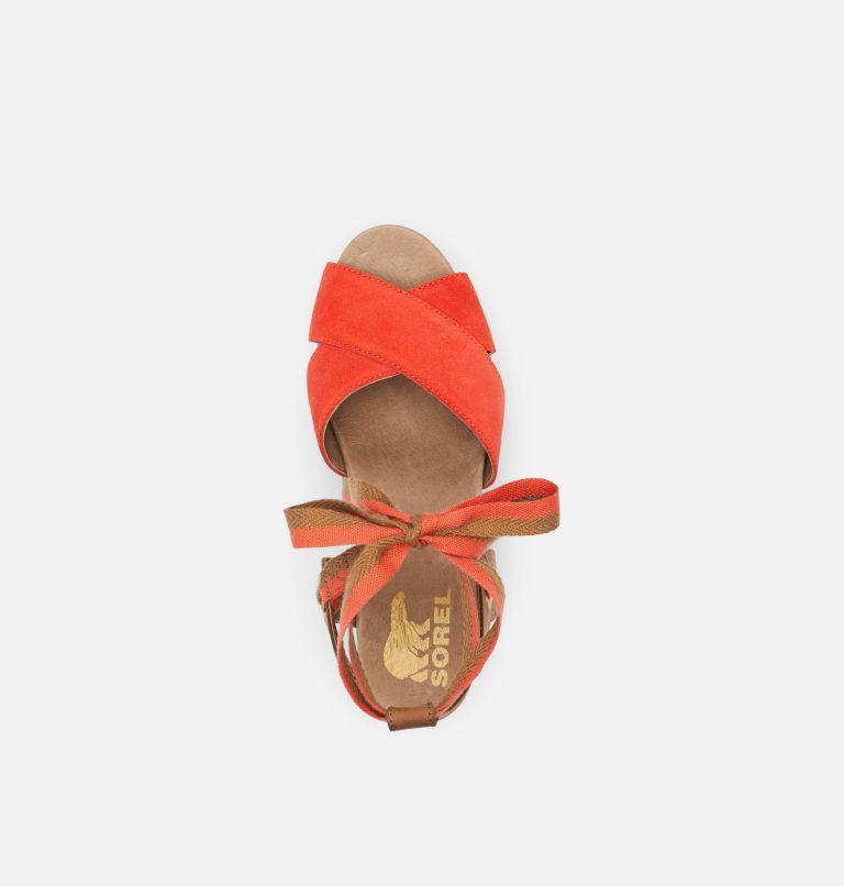 JOANIE™ II HI ANKLE LACE | 854 | 9.5 Womens Joanie™ II Hi Ankle Lace Wedge Sandal, Signal Red, top