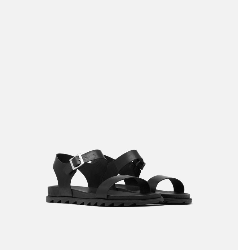 ROAMING™ DECON ANKLE STRAP | 010 | 11 Womens Roaming™ Decon Ankle Strap Sandal, Black, 3/4 front
