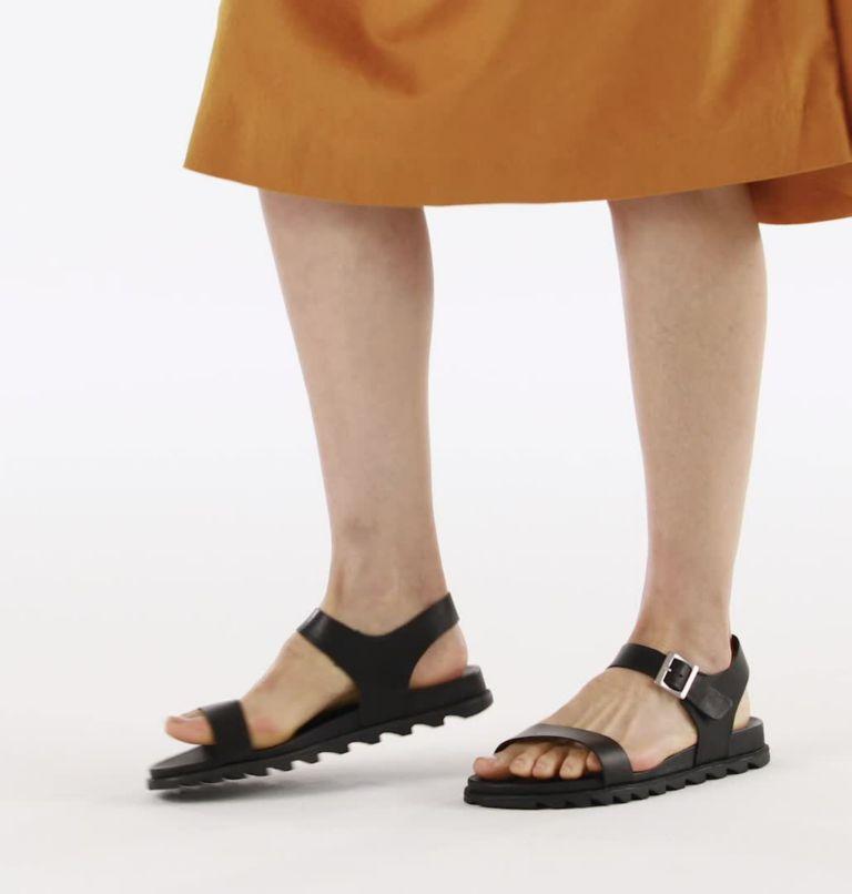 ROAMING™ DECON ANKLE STRAP | 010 | 9.5 Womens Roaming™ Decon Ankle Strap Sandal, Black, video