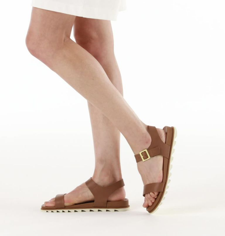 ROAMING™ DECON ANKLE STRAP | 242 | 5.5 Womens Roaming™ Decon Ankle Strap Sandal, Velvet Tan, video