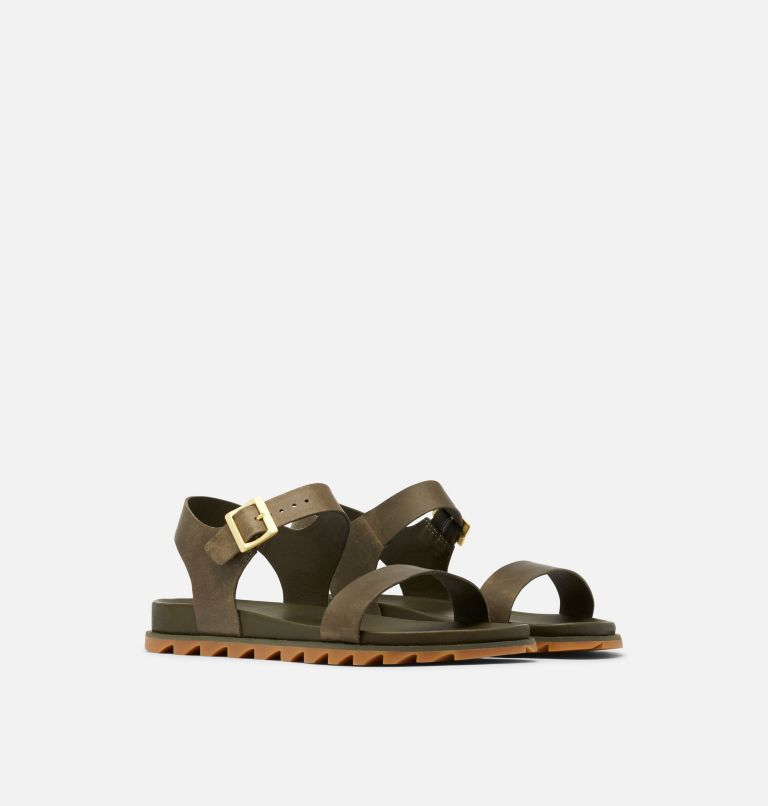 ROAMING™ DECON ANKLE STRAP | 319 | 9.5 Womens Roaming™ Decon Ankle Strap Sandal, Olive Green, 3/4 front
