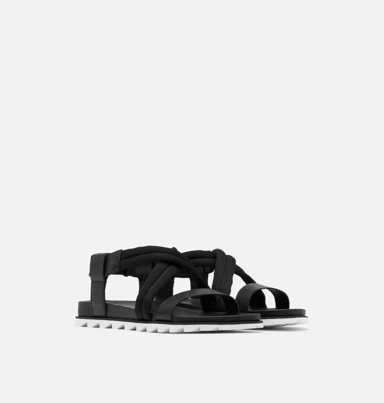 ROAMING™ DECON SANDAL | 010 | 9.5 Womens Roaming™ Decon Sandal, Black, 3/4 front