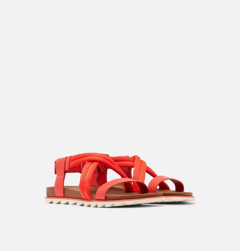 ROAMING™ DECON SANDAL | 854 | 6.5 Womens Roaming™ Decon Sandal, Signal Red, 3/4 front