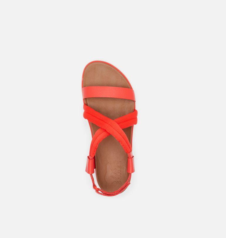 ROAMING™ DECON SANDAL   854   10.5 Womens Roaming™ Decon Sandal, Signal Red, top