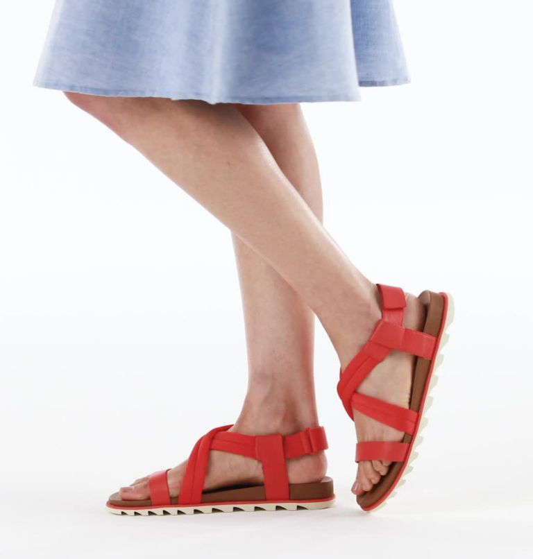 ROAMING™ DECON SANDAL   854   10.5 Womens Roaming™ Decon Sandal, Signal Red, video