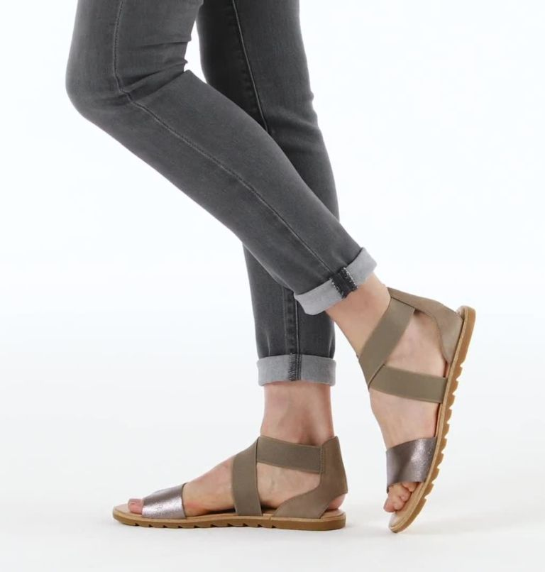 ELLA™ II SANDAL | 240 | 6 Womens Ella™ II Sandal, Ash Brown, video
