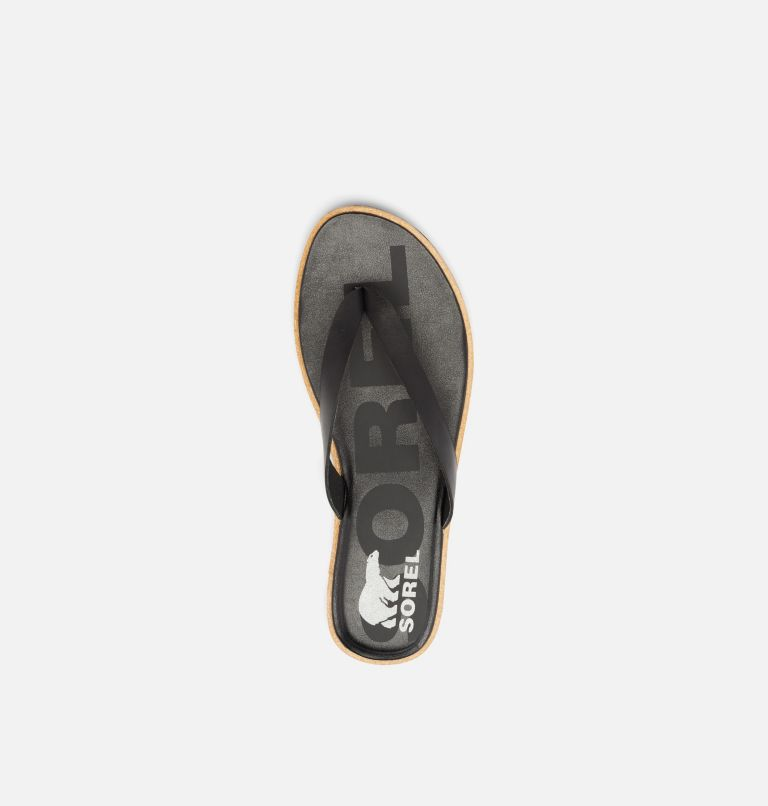 ELLA™ II FLIP | 010 | 7.5 Womens Ella™ II Flip Sandal, Black, Sea Salt, top