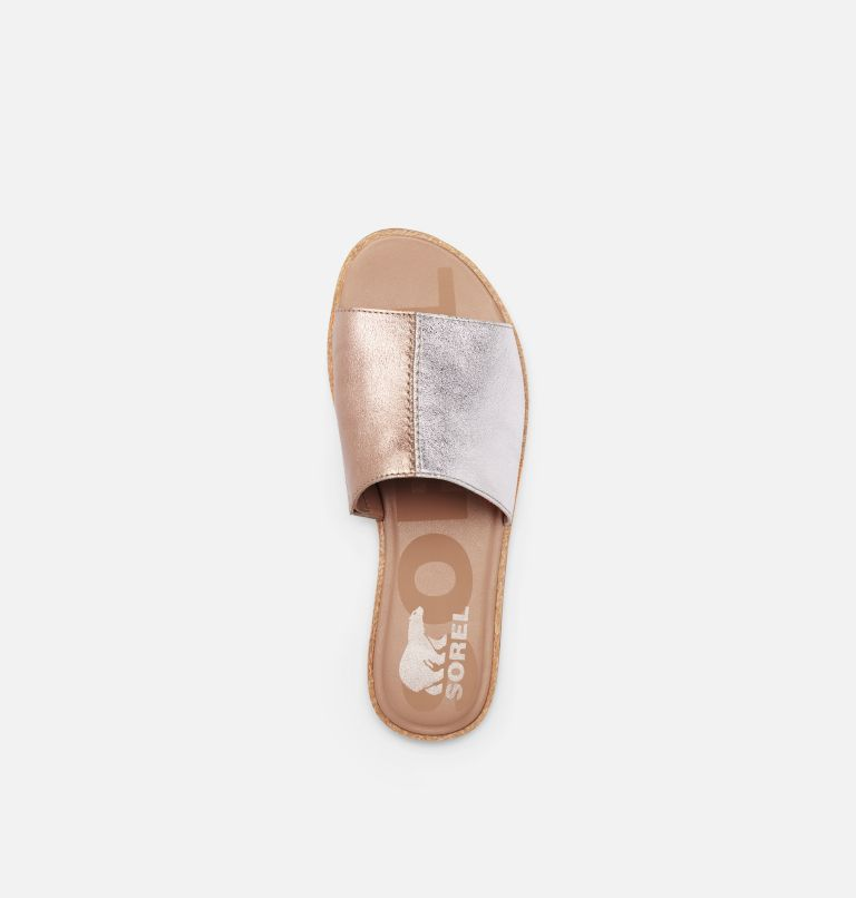 ELLA™ II BLOCK SLIDE | 034 | 6 Womens Ella™ II Block SIide, Pure Silver, top