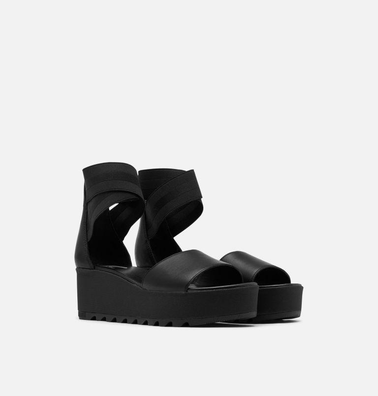 CAMERON™ FLATFORM ANKLE STRAP | 010 | 9 Womens Cameron™ Flatform Ankle Strap Wedge Sandal, Black, 3/4 front